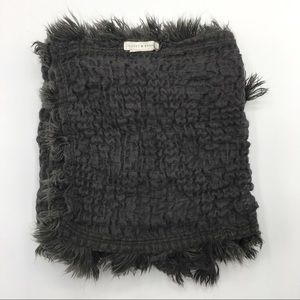 [LUCKY BRAND] Long Textured Scarf w ZigZag Tassels